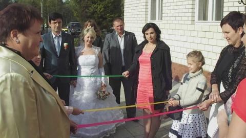 Тамада начинает проведение свадьбы